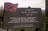 Picacho-Battle of Picacho Marker