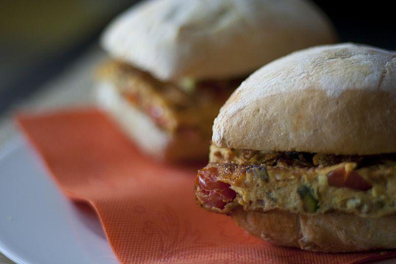 File:Picnic sandwiches with vegetable italian omelette (7623052238).jpg