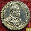 Pier paolo galeotti, medaglia di francesco I de' medici (e cosimo I), 1574 (argento).JPG