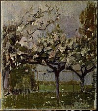 Piet Mondriaan - Blossoming trees before a haystack - 0334226 - Kunstmuseum Den Haag.jpg