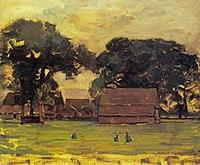Piet Mondriaan - Farmstead under oak trees II - A539 - Piet Mondrian, catalogue raisonné.jpg