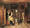 Pieter de Hooch - At the Linen Closet - WGA11712.jpg