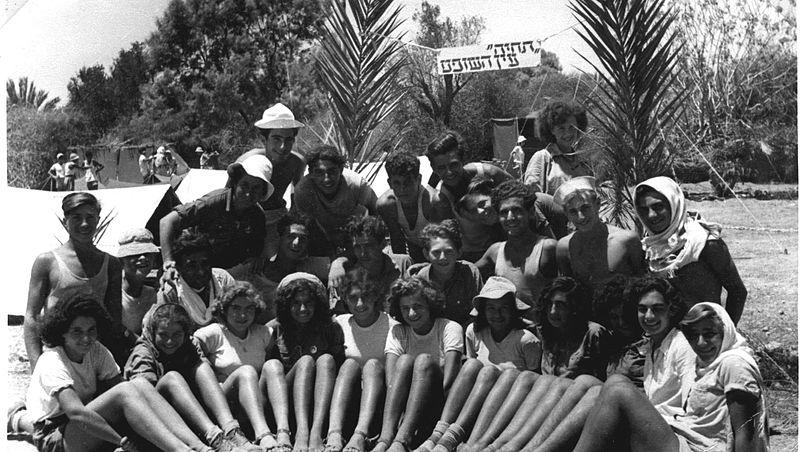 צילום משותף במחנה שומרי