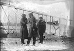 Pilots in front of a Curtiss JN-4 Canuck (16807415284).jpg