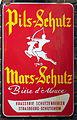 Pils-Schutz Mars-Schutz, Brasserie Schutzenberger, Strasbourg-Schiltigheim enamel advertising sign.JPG