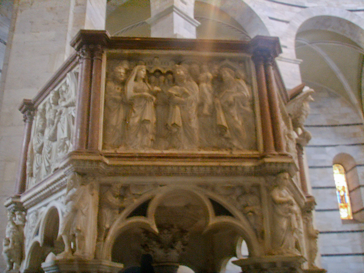 File:Pisa, battistero, pulpito di Nicola Pisano, 3.JPG ...