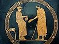 Pittore di euaion, coppa attica a figure rosse con donna che fa la libagione a un uomo, 480-450 ac..JPG