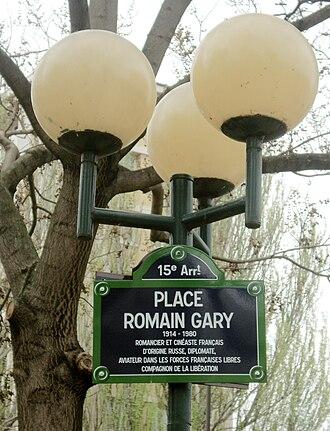 Romain Gary - Place Romain-Gary, located in Paris' 15th arrondissement