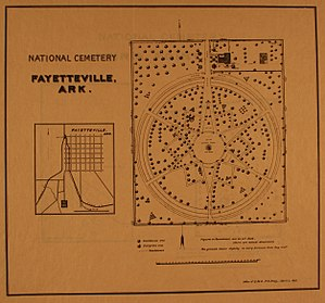 Fayetteville National Cemetery - Layout of Fayetteville National Cemetery - 1892