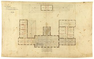 Hobart Town Hall - Henry Hunter's plans for Hobart Town Hall