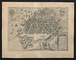 Plan van Antwerpen en de citadel, 1598
