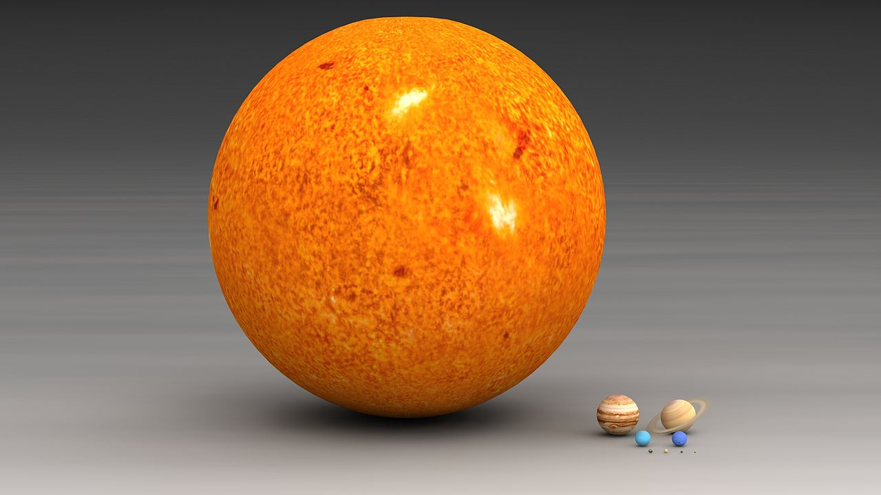 planets in our solar system to scale - photo #27