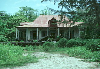 East Point, British Indian Ocean Territory - Former Plantation Manager's house, prior to restoration