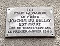 Plaque Joachim du Bellay, Rue Chanoinesse - Rue Massillon, Paris 4.jpg