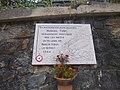 Plaque commémorative Marcel Turc, fusillé en 1944, à Lavaldens.jpg