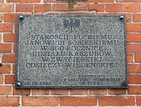 Plaque to Jan III Sobieski in Puck.jpg