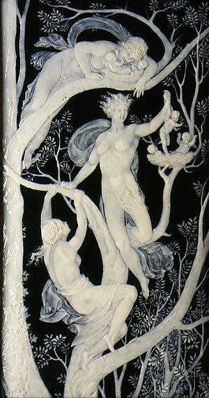 Marc-Louis Solon - Image: Plaque with Tree Spirits LACMA AC1995.98.2.1 .2
