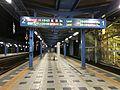 Platform of Miyazaki Station at night 2.jpg