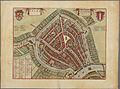 Plattegrond van de stad Gouda binnen de singels, ca. 1650..jpg