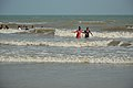Playful People with Sea Waves - New Digha Beach - East Midnapore 2015-05-01 8698.JPG