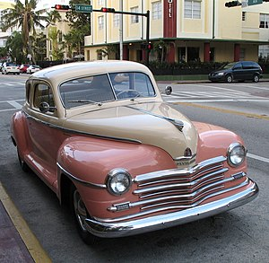 Plymouth coupe, model 1948