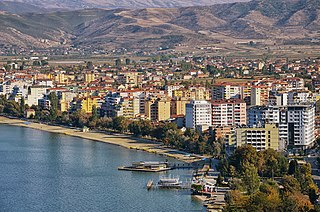 Pogradec city in southeastern Albania