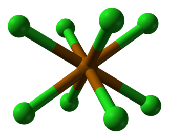 Polonium dichloride - Distorted cubic coordination of polonium by eight chlorines