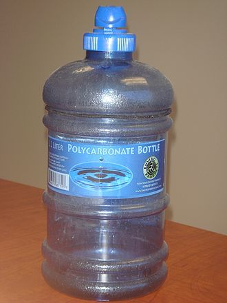 Polycarbonate - A bottle made from polycarbonate.