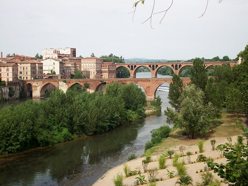 Fichier:Pont Vieux et Pont Neuf d'Albi, Tarn, France.JPG