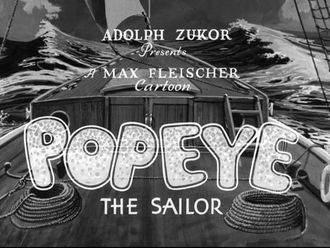 Popeye the Sailor (film series) - Popeye the Sailor opening title employed in the 1930s.