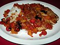 Pork Chop and Rice with Sweet & Sour Cherry Sauce (9130520486).jpg