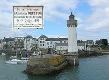 Puerto Haliguen enQuiberondonde Dreyfus desembarcó en junio de 1899