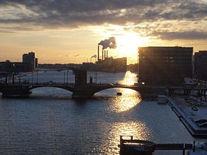Langebro - Image: Port of Copenhagen sunset