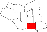 Location of Port Colborne in the Niagara Region
