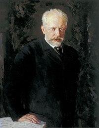 Pjotr Tjajkovskij, målning av Nikolaj Kuznetsov.
