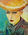 Portrait of a topmodel oilpainting canvas 54x68cm'13.JPG