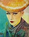 Portrait of a topmodel oilpainting canvas 54x68cm'13.JPG