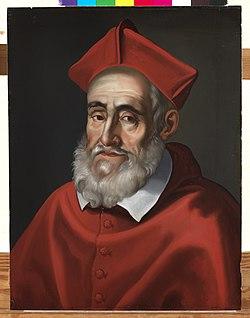 Portret van kardinaal Baronius, onbekend, schilderij, Museum Plantin-Moretus (Antwerpen) - MPM V IV 111.jpg