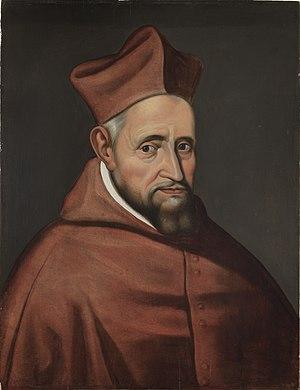 Portret van kardinaal Robertus Bellarminus, onbekend, schilderij, Museum Plantin-Moretus (Antwerpen) - MPM V IV 110 (beschnitten) .jpg