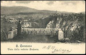 Škocjan, Koper - 1903 postcard of Škocjan