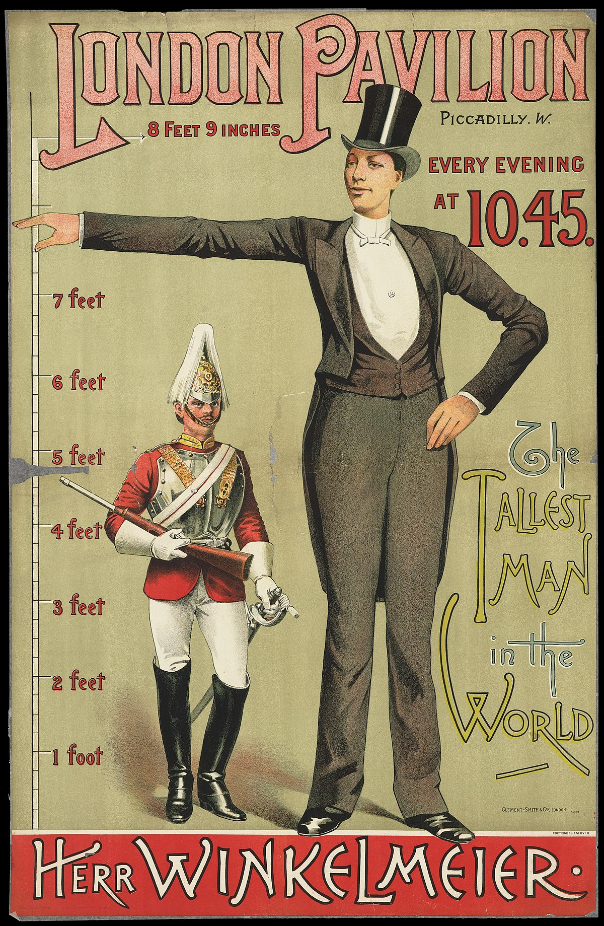 Datei:Poster advertising the tallest man in the world ...