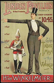 Poster advertising the tallest man in the world Wellcome L0063555.jpg