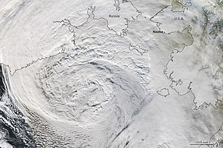 November 2011 Bering Sea cyclone