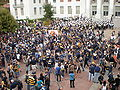Pregame football rally at Sproul Plaza 2009-09-05 11.JPG