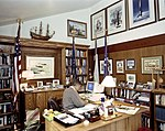 President George H. W. Bush Works at the Computer in his Office at Camp David.jpg
