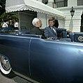 President John F. Kennedy and President Dr. Sarvepalli Radhakrishnan of India in Car Before Motorcade (3) (cropped).jpg