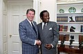 President Ronald Reagan meeting with Lou Rawls in the Oval Offiice.jpg