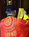 Priest at Xiahai City God Temple - Dihua Street - Taipei - Taiwan (47821427422).jpg