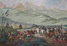 Lithographie de la prise de Chambéry en 1792 par Loeillot