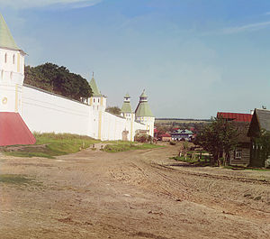Borisoglebsky, Yaroslavl Oblast - Monastery of Sts. Boris and Gleb ca. 1911 (photo by Sergey Prokudin-Gorsky)